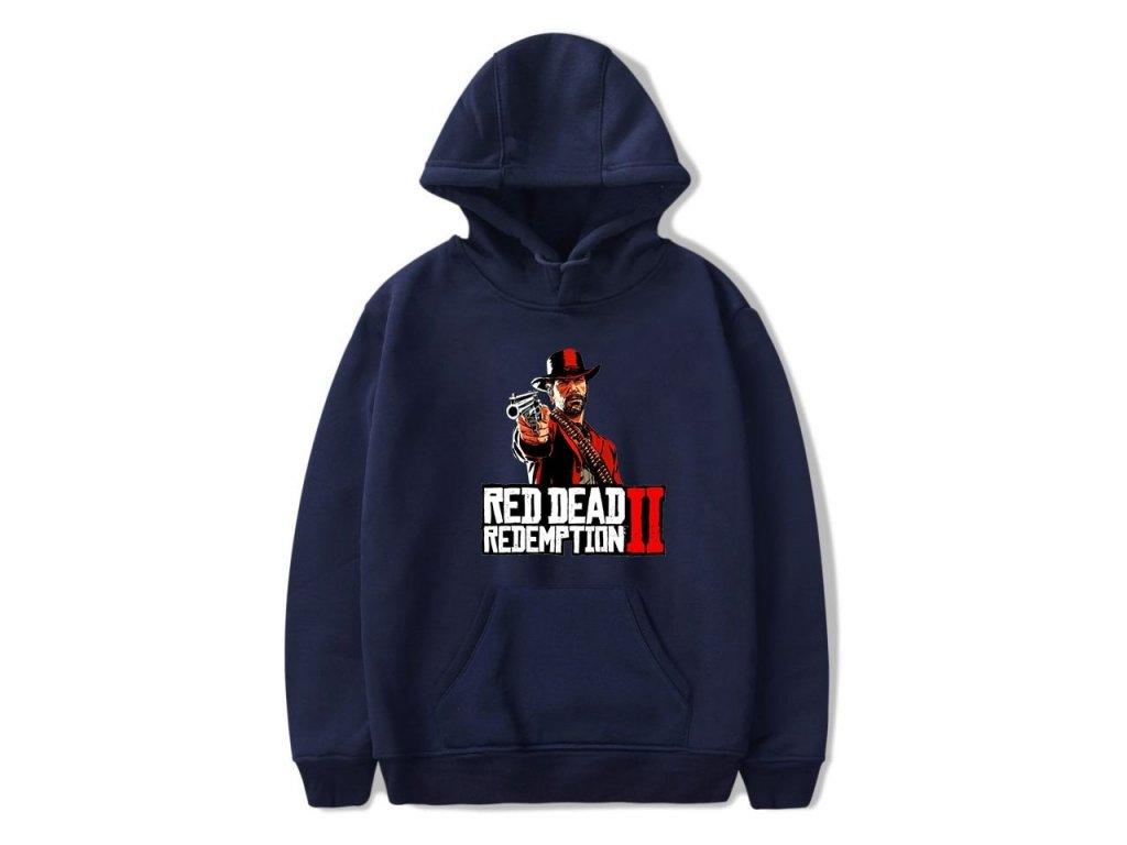 LUCKYFRIDAYF red dead redemption 2 Fashion Hoodies Women Men Casual Trendy Hooded Sweatshirts 2018 Hot Gama navy blue (5)