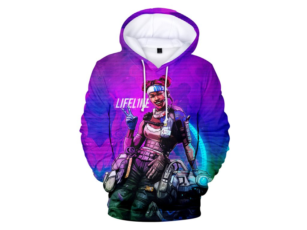 FADUN TOMMY Hoodies Kawaii 3D Apex Legends Print Sweatshirt Long Sleeve Women Clothes 2019 Hot Sale 1