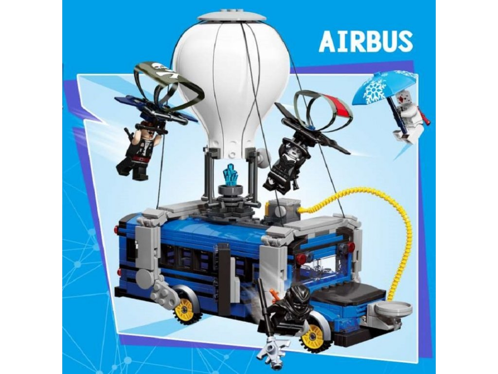 0 IN stock Fortress Night Airbus Model airplane Building blocks fortnighting air plane bricks toys for kids